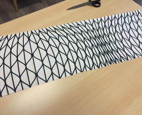 1. projecttasje: Knip een strook van 30 x 90 cm