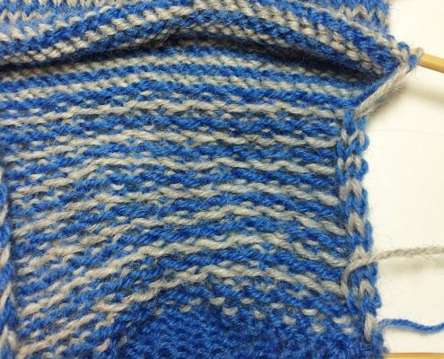 helix 1: beide draden zitten bij de kleine hiel
