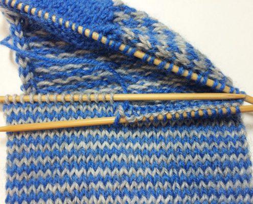helix 5: brei helft bovenvoet met blauw