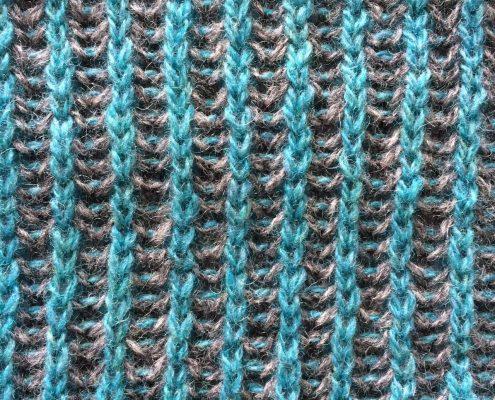 blauwe zijde tweekleurig patent