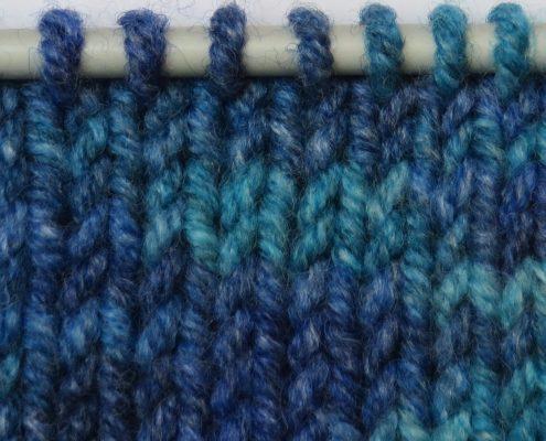 3-draads garen in breiwerk