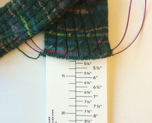 Lengte van de voet meten vanaf de hiel