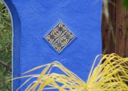 Wol & Co inspiratiebeeld, blauwe muur, Spanje