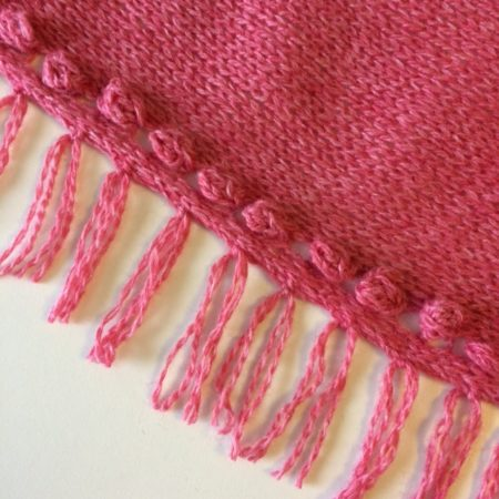 Patroon sjaal met franje Daisy