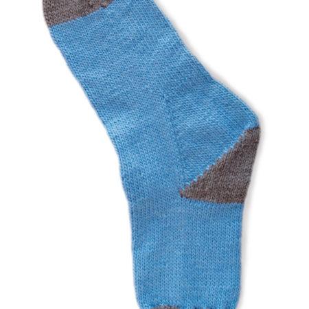 Basispatroon teen-eerst sokken
