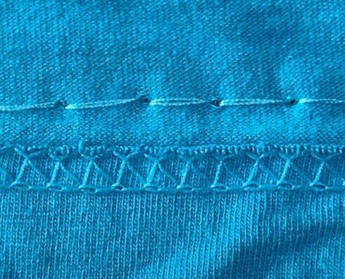 Wol & co T-shirt tas stiksteek bovenkant