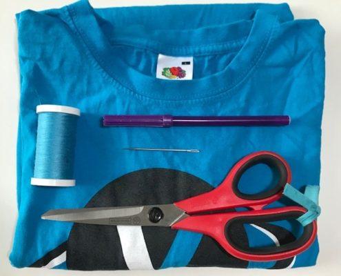 Wol & co T-shirt tas benodigdheden