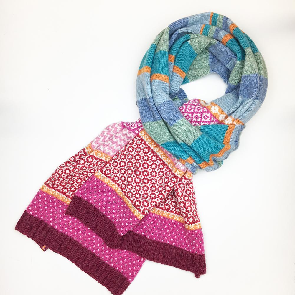 Fair Isle pakket Stripy sjaal