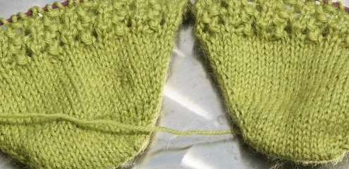 Wol&Co groene sneaker geschikt voor sokken