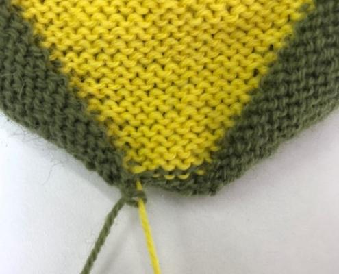 Wol&Co draad laten hangen met knoop