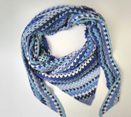 Wol & Co Granny Stripe blauw