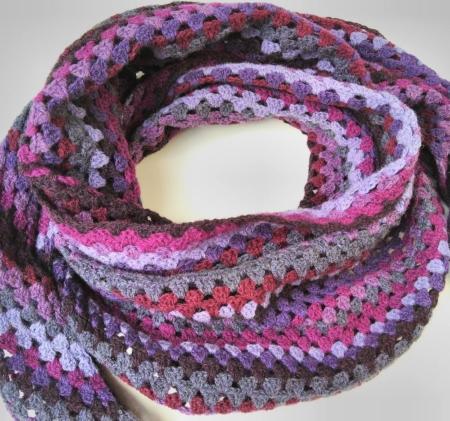 Wol & Co Granny Stripe paars