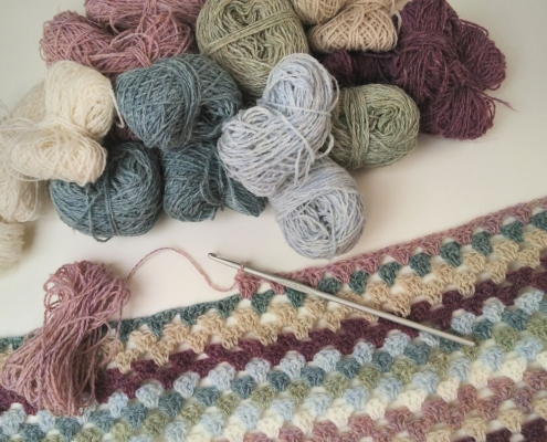 Wol & Co Granny Stripes restjes in de maak