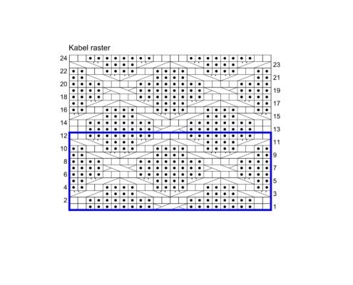 Wol & Co Kabel raster breischema