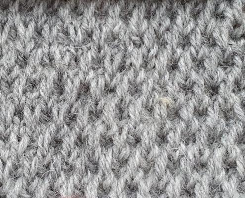 Wol & Co driedubbel afgehaalde steek