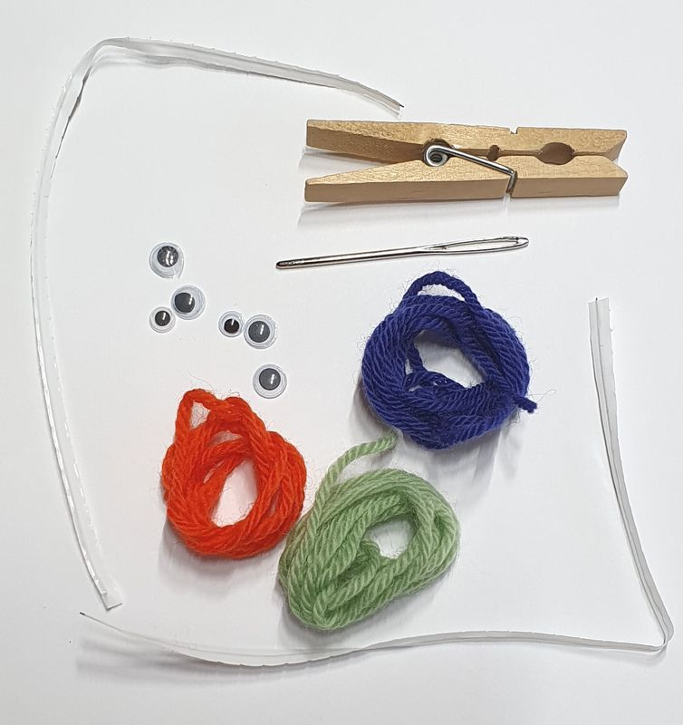 Wol & Co knijperpoppetje 1 wat heb je nodig.