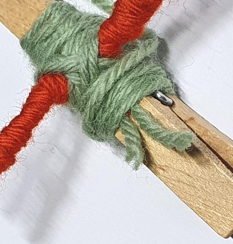 Wol & Co knijperpoppetje 6 oude draad nieuwe draad