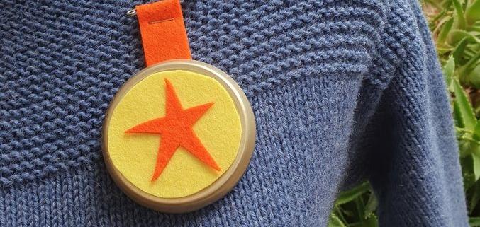 Wol & Co junior medaille met speld