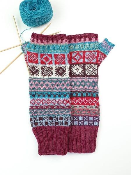 Wol & Co vingerloze handschoen Fair Isle 2