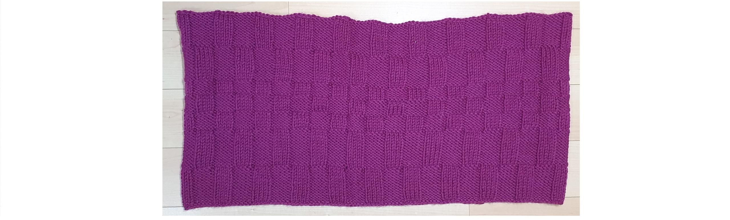 Wol & Co col sjaal met relief steek