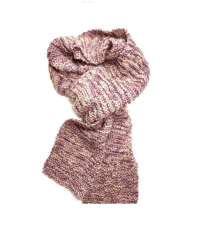 Wol & Co sjaal met dubbele draad