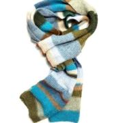 Wol & Co sjaal met ribbels en strepen