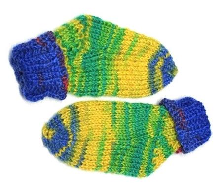 Patroon baby sokken breien vanaf de teen